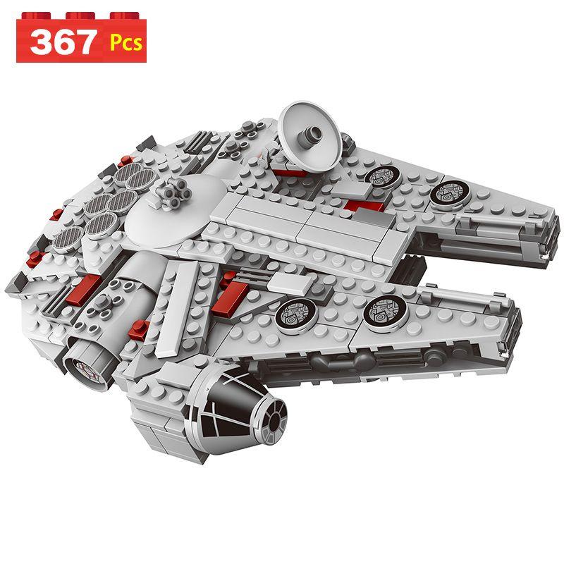 <font><b>Star</b></font> Compatible LegoINGLYS Starwars series Set Wars Millennium Falcon Factory Sale Mini Model Blocks Plastic Figure Toy Bricks