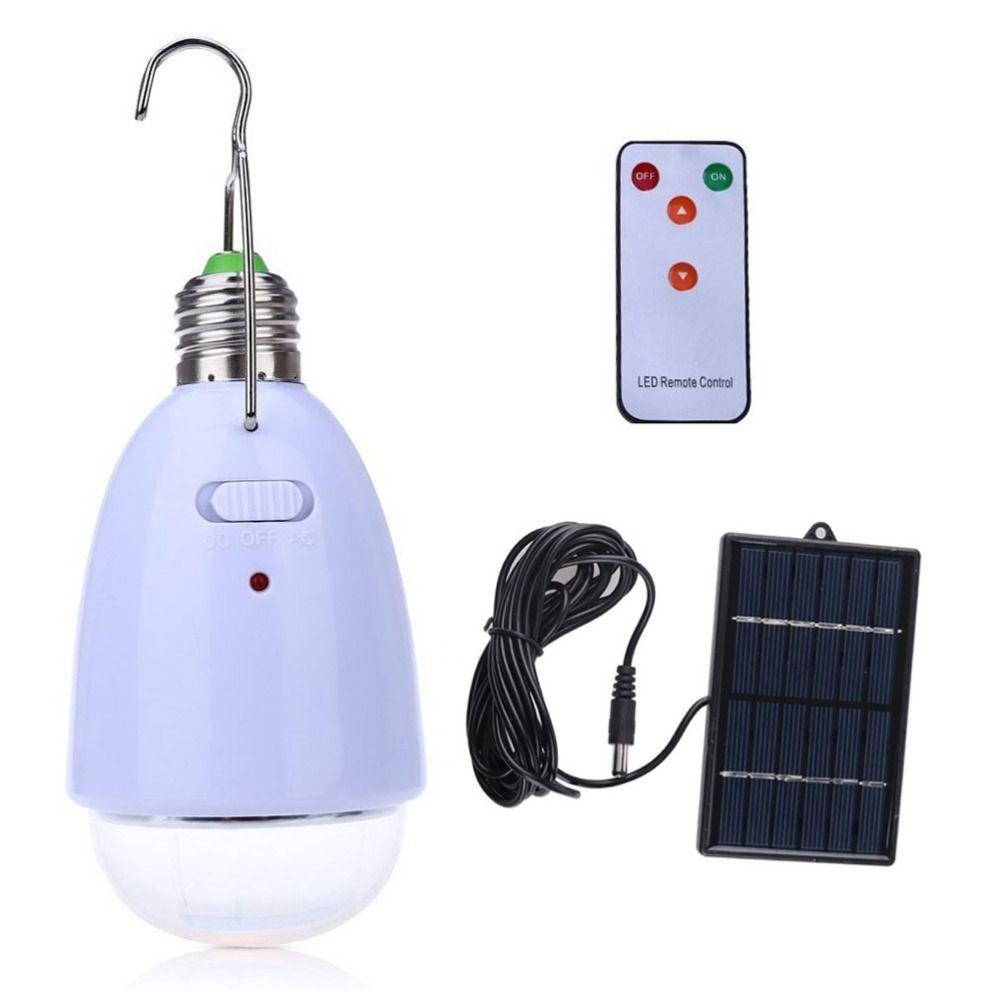 Lampe solaire led Rechargeable avec télécommande DC6V/AC90 ~ 260 V lanterne extérieure led camping lampes de secours panneau solaire