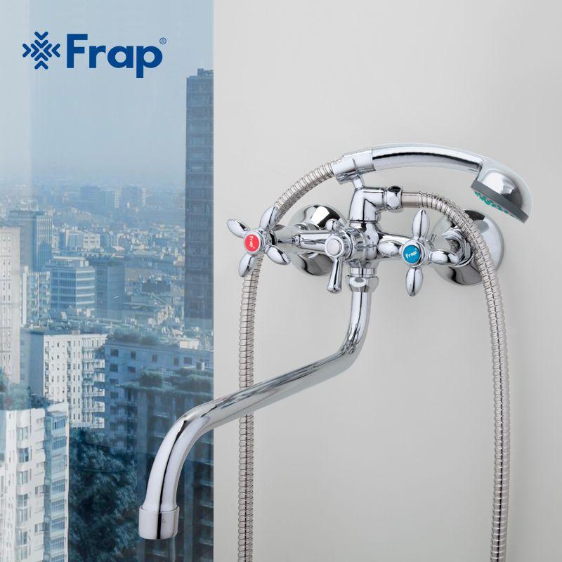 Frap Classic shower faucet Long trunk bathroom Bathtub mixer Hot and cold water dual control F2227D