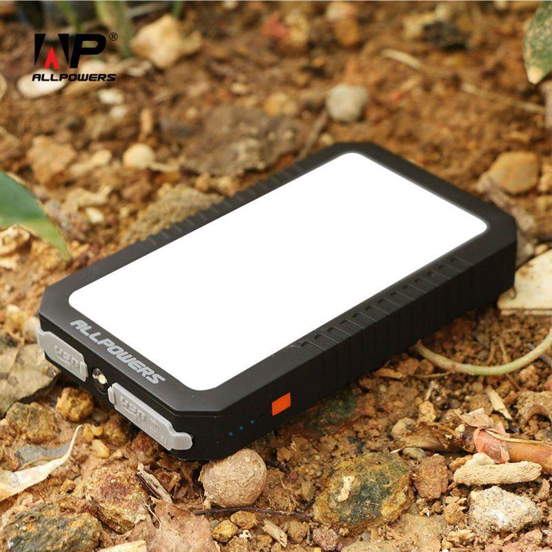 Puissance Banque 12000 mAh ALLPOWERS Téléphone Externe Batterie Pack pour iPhone 5 5S SE 6 6 s 7 7 Plus Samsung HTC LG Sony Huawei etc.