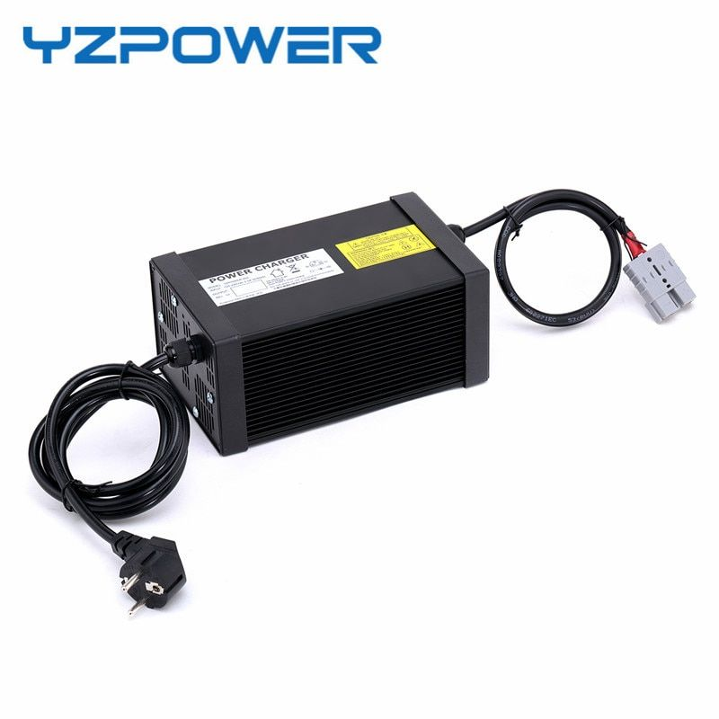 YZPOWER 24S 87.6V 8A 7.5A 7A 6.5A 6A 5.5A 5A Faster Charger Lifepo4 Battery Charger for 72V Ebike Battery with 4 Cooling Fan