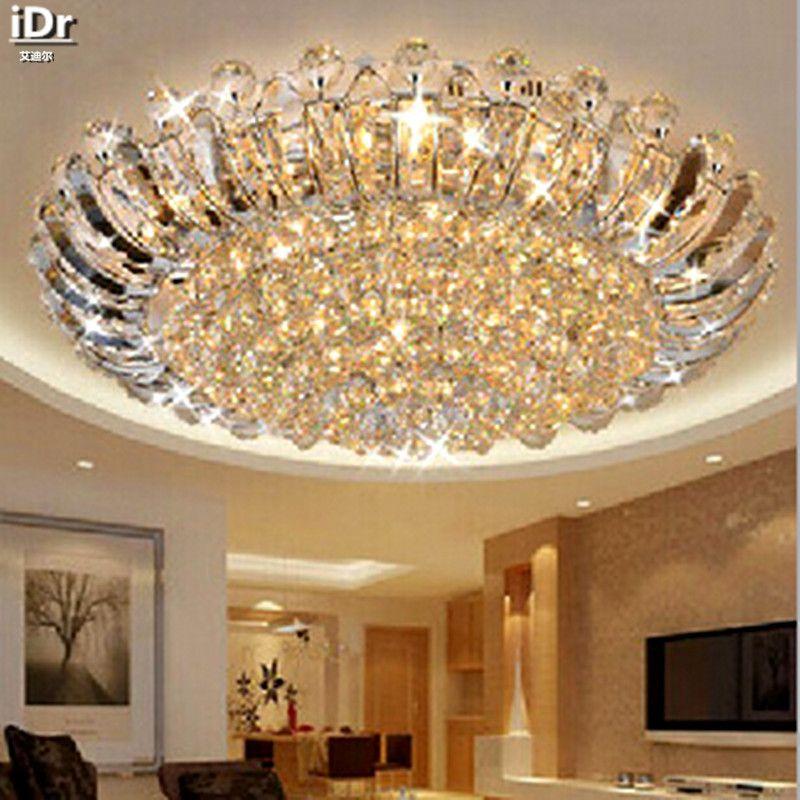 Moderne luxus kristall deckenkreis wohnzimmer lichter led-beleuchtung Schlafzimmer Deckenleuchten 100% qualitätsgarantie