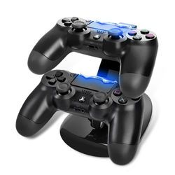 Dual USB Charge Dock Stand  Dual Charger Controller stand with Micro USB charging Cable for Sony Play station 4 PS4 Charger