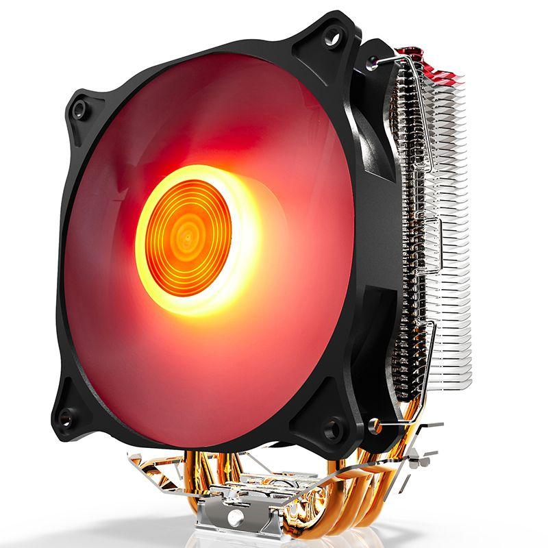 Aigo E4 CPU Cooler TDP 280W 4 heatp 4p RGB LED 120mm Fan Aluminum Heatsink Radiator for LGA 775/1150/1151/1155/1366/AM2/AM3/AM4
