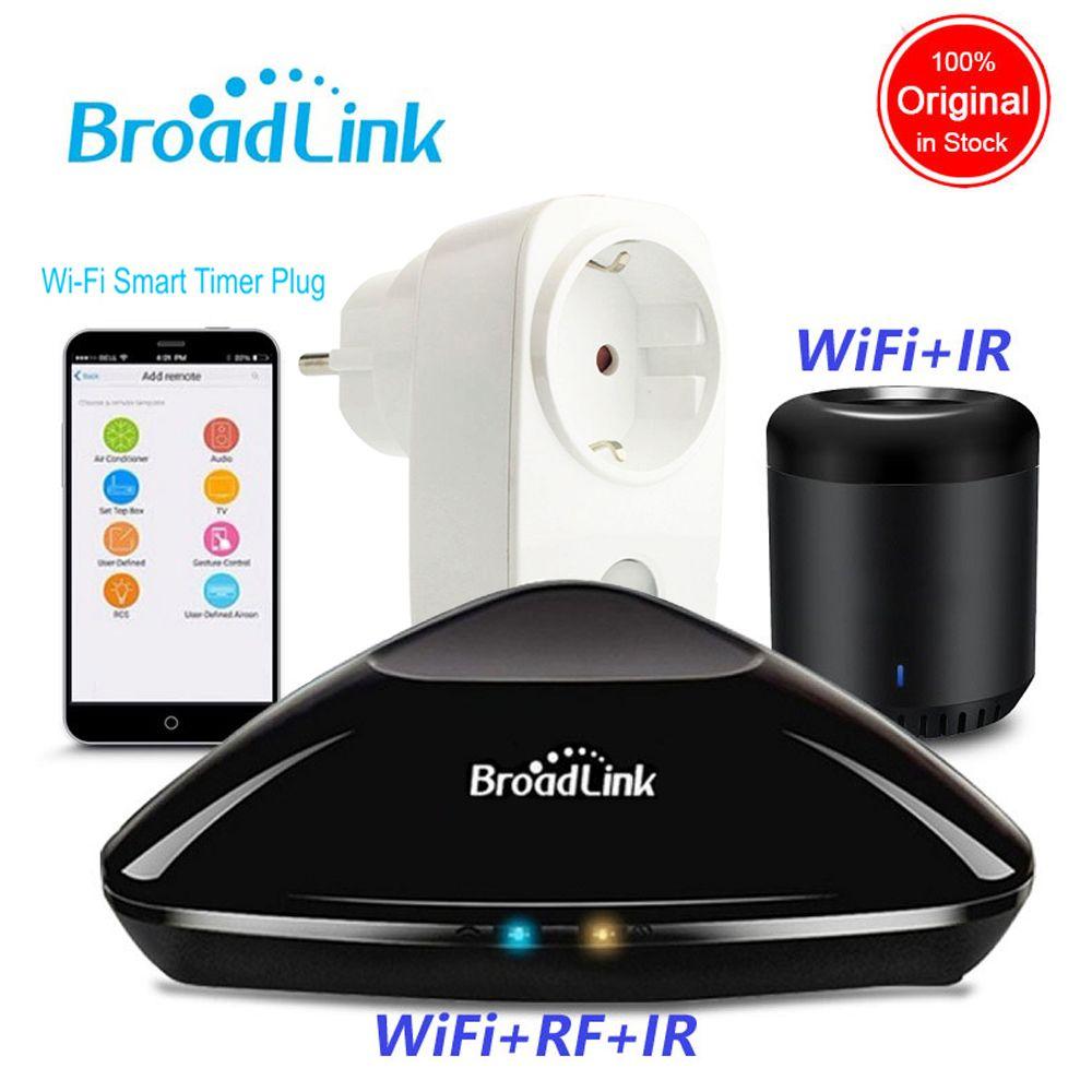 2019 Broadlink Rm Pro + RM Mini3 domotique WIFI + IR + RF contrôleur intelligent SP3 EU WiFi prise de courant sans fil APP télécommande