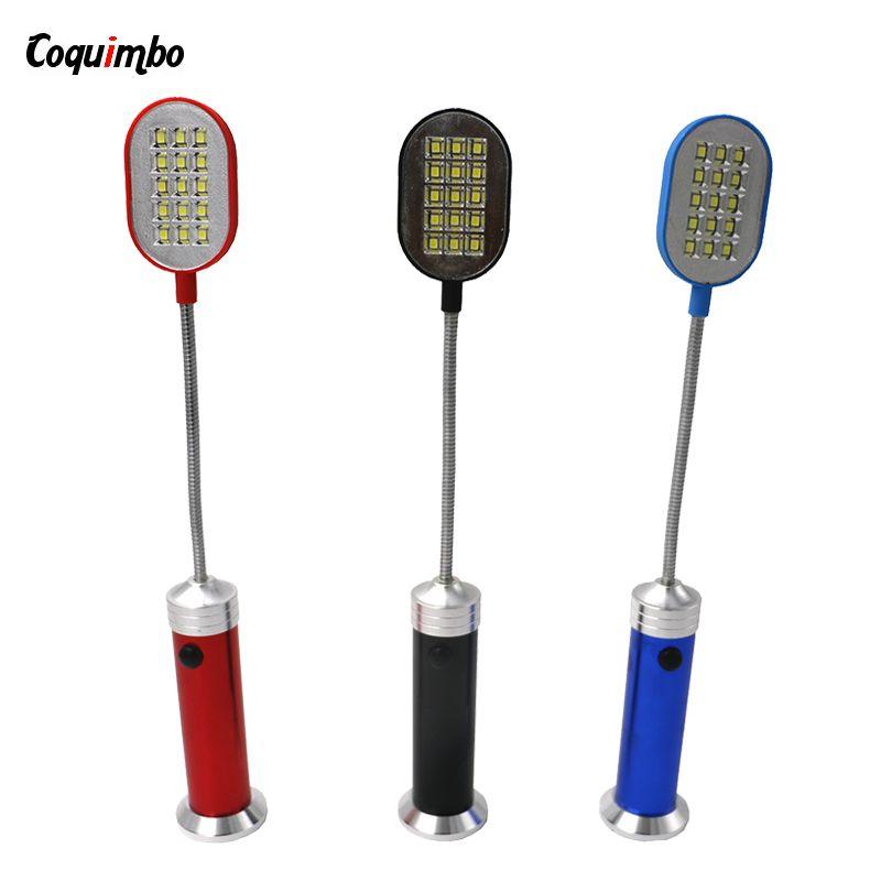 Новый светодиодный фонарик Гибкая 1 Режим Алюминий настольная лампа 15 светодиодные лампы фонарик с магнитом факел идеальный компаньон свет