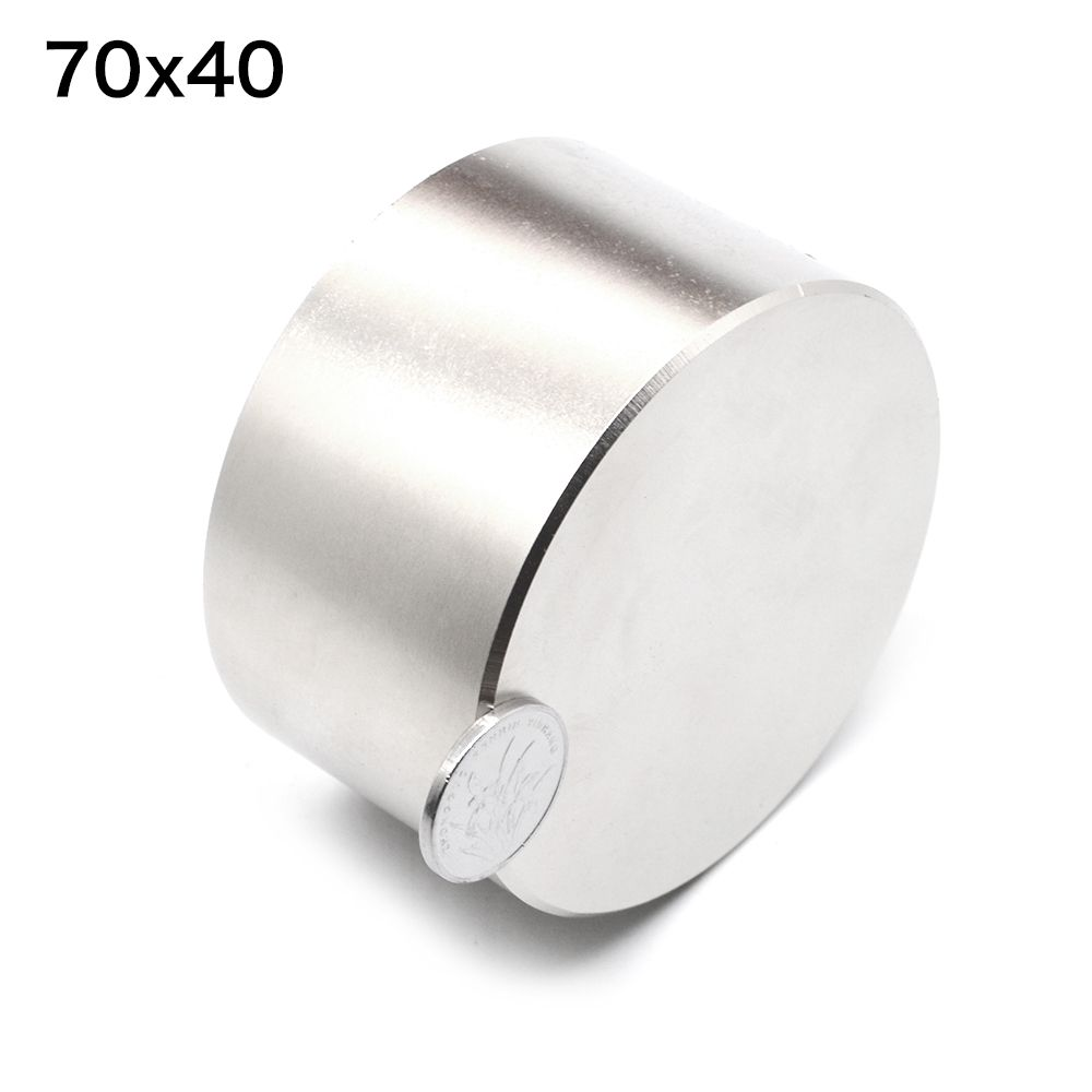 1pcs N52 Neodymium magnet 70x40 mm gallium metal hot super strong round magnets 70*40 powerful permanent magnets