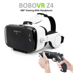Vente chaude! Google Carton BOBOVR Z4 gafas realidad virtuel BOBO VR Pour 4.7-6.2 pouce Smartphone + Multi-Fonction Bluetooth Gampad