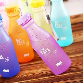 Hot 550ML Portable Leak-proof Water Bottle Outdoor Bicycle Sports Drinking Unbreakable Plastic Water Bottles Free Shipping