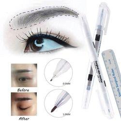 1 unids marcador quirúrgico de la piel ceja marcador tatuaje marcador de la piel pluma con Regla de medición microblading posicionamiento Herramienta #244859