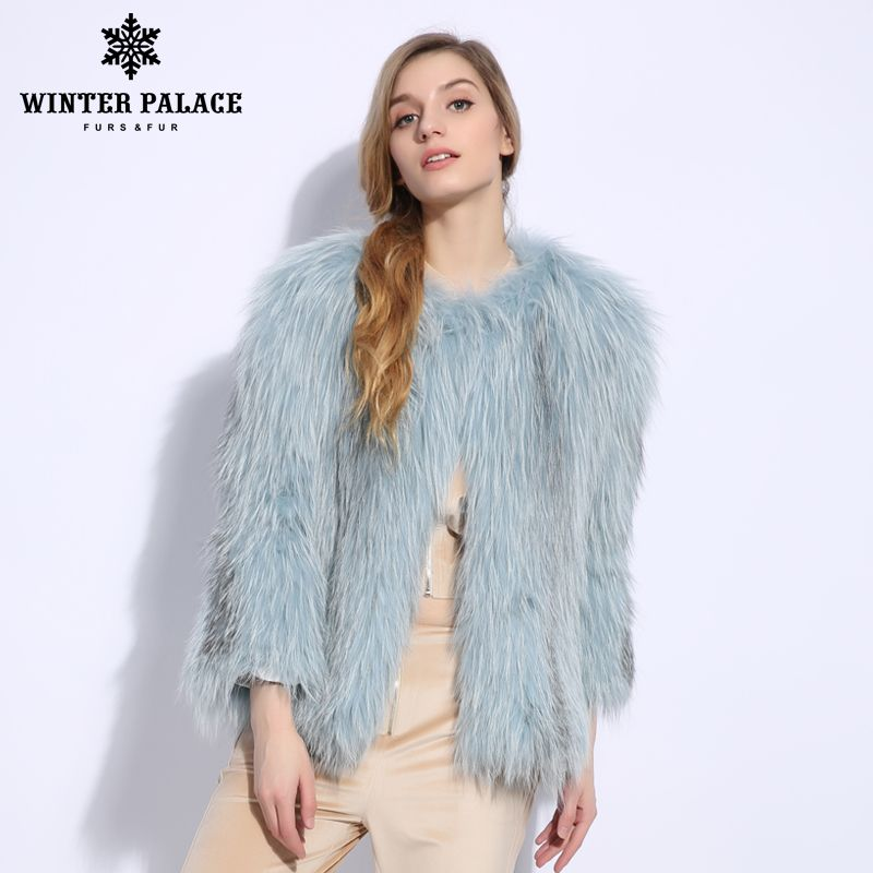 2018 New Fashion Slim Fur Sexy fox fur vest Nine Quarter of fox fur coat Genuine Leather real fox fur coat O-Neck Short coat
