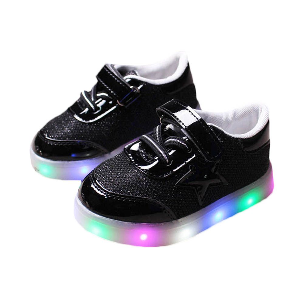 Kids LED Sneakers Spring Children Colorful Flashing Light Casual Shoes Stars Boots BM88