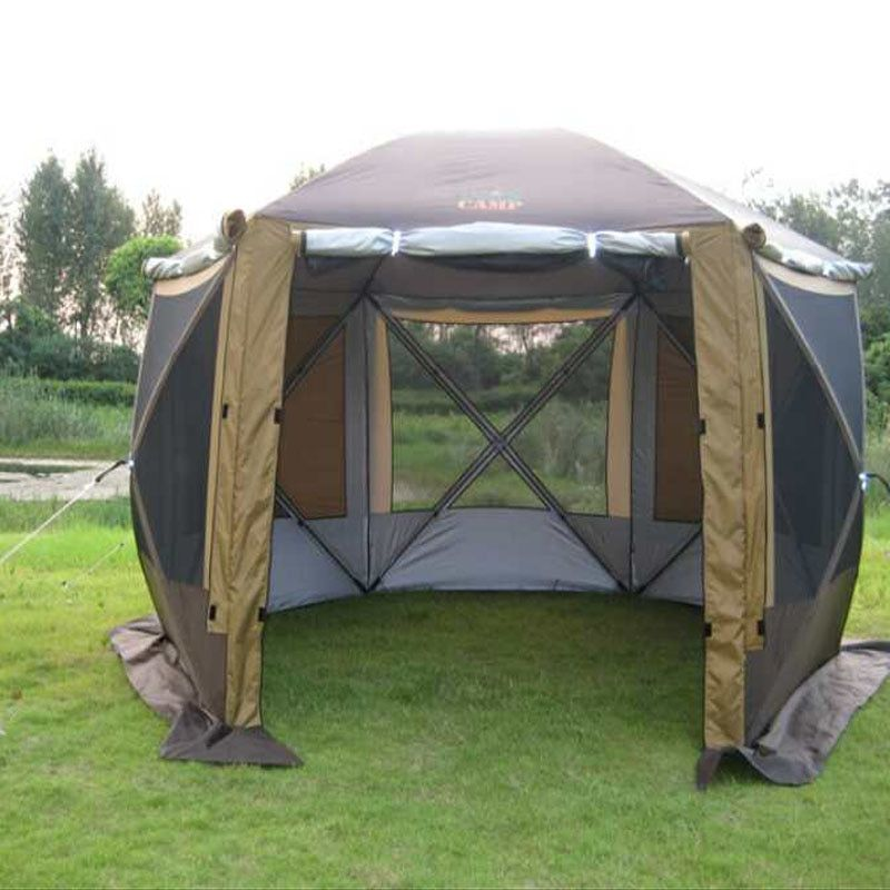2017 Mimir New Portable Yurts Family Team Many People Outdoor Camping Hexagonal Awning Winter Ice Fishing Tents