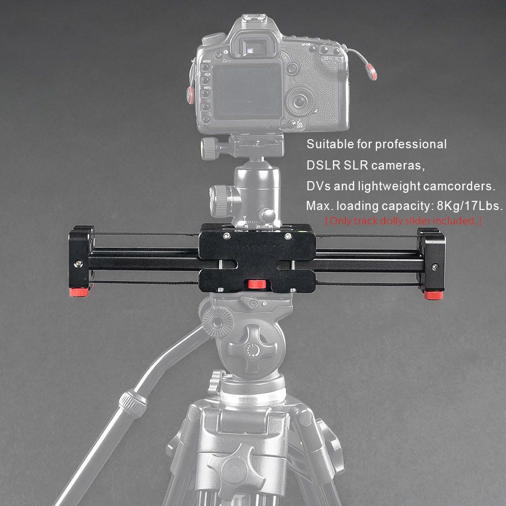 Compact Retractable Track Dolly Slider 50cm Rail Shooting Video Stabilizer 86cm Actual Sliding Distance