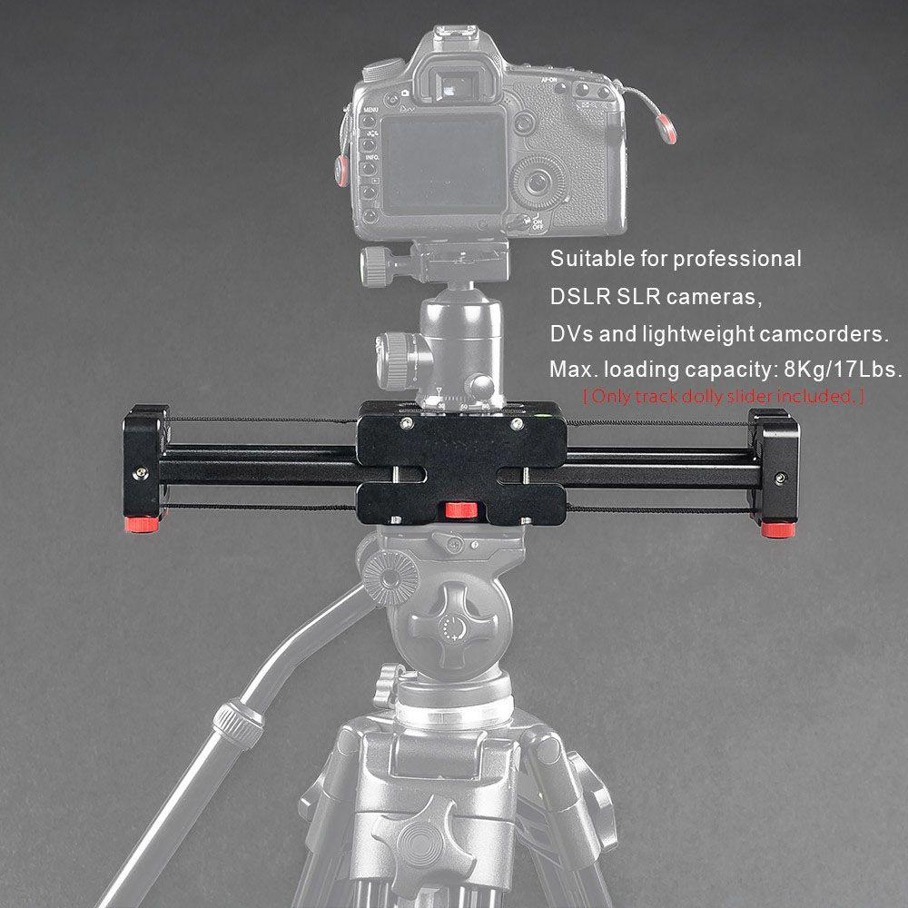 Kompakte Versenkbare Track Dolly Slider 50 cm Schiene Schießen Video Stabilizer 86 cm Tatsächlichen Schiebe Abstand