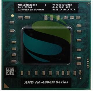 AMD Dual Core A6-4400M 2.7Ghz A6 4400M AM4400DEC23HJ Socket FS1 A6-Series notebook CPU PROCESSOR processor