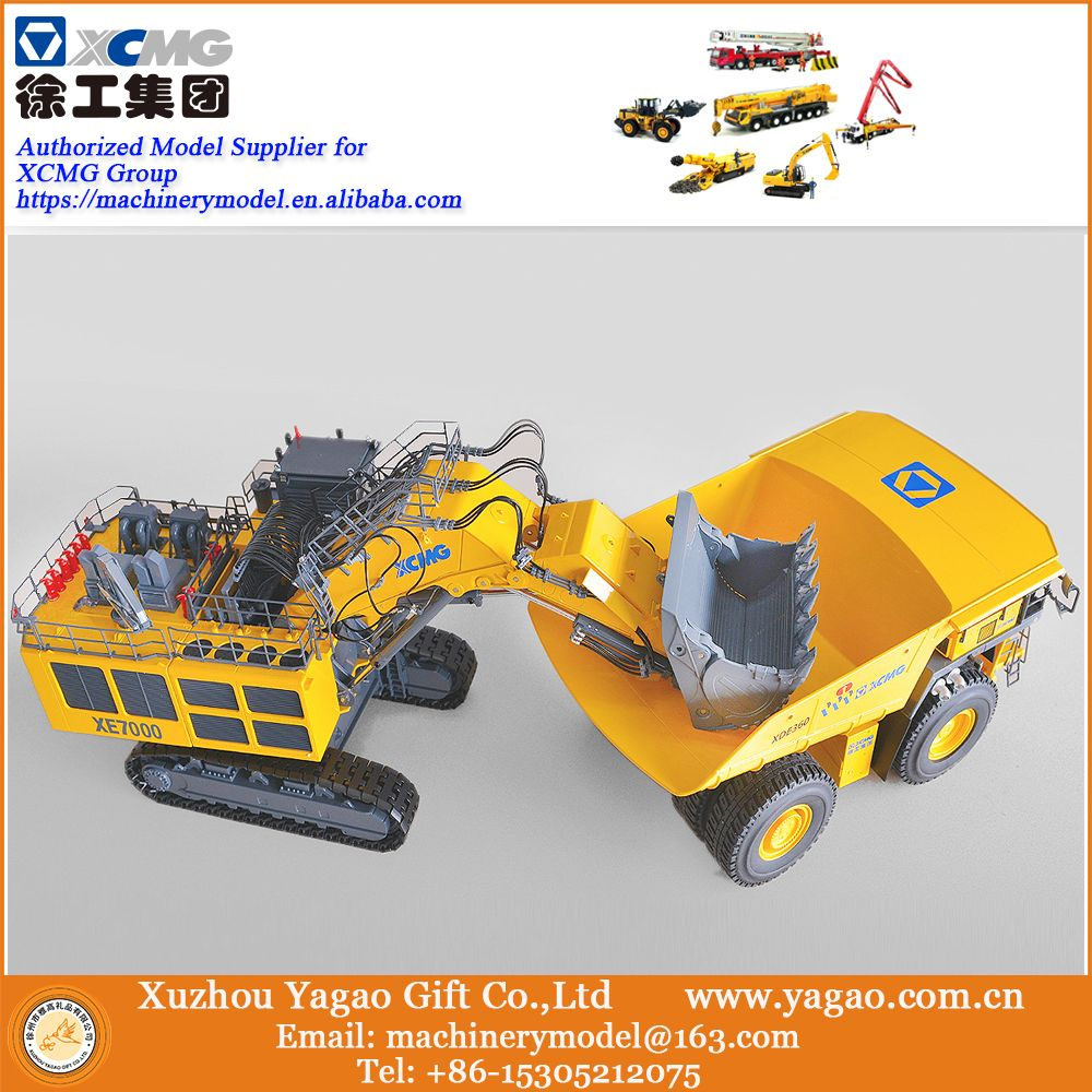 Combos for 2018 New Launch 1:50 XCMG XE7000 Mining Excavator match 1:50 XCMG XDE360 Mining Truck, Collection, Free Fast Ship