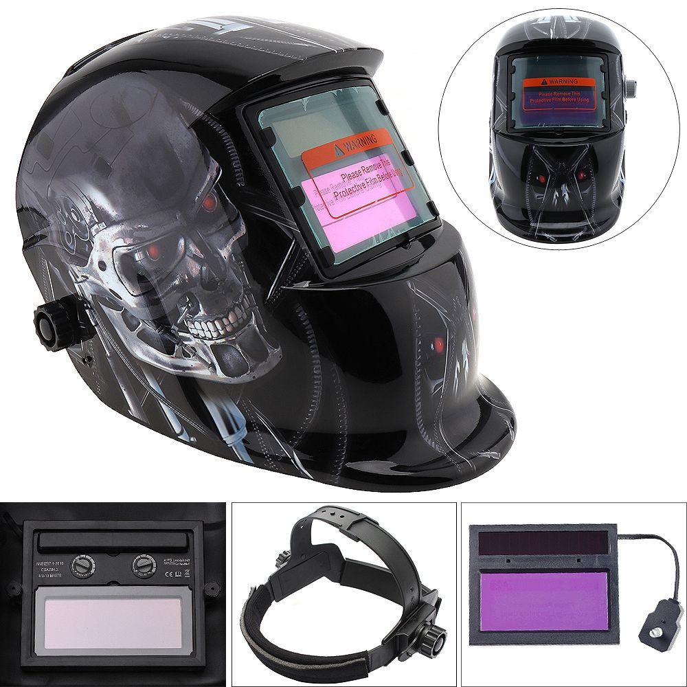 Schweißen Werkzeuge Stufenlos Einstellen Solar Auto Verdunkelung TIG MIG Schleifen Schweißen Helme Maske Kappe Brille Werkzeug UV/IR Presevation