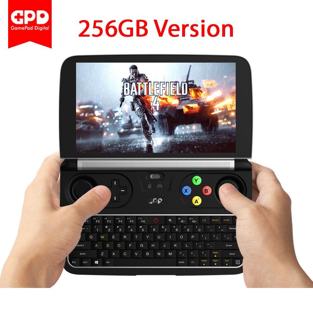 Neue Original Neueste GPD WIN 2 WIN2 256 GB 6 Zoll Mini Gaming PC Laptop Intel Core m3-7Y30 Windows 10 Laptop mit Freies Geschenke