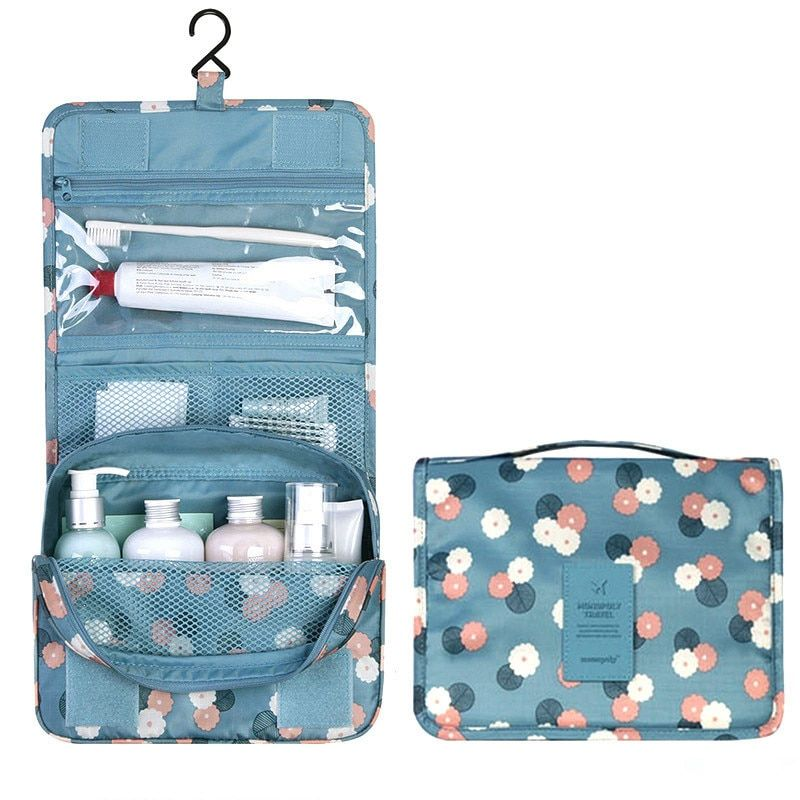 Hanging Travel Cosmetic Bag Women Zipper Make Up Bag Polyester High Capacity Makeup Case handbag Organizer Storage Wash Bath Bag