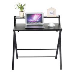 Ordinateur De Bureau pliable Pliant D'ordinateur Portable PC Table D'étude à Domicile Bureau Poste de Travail