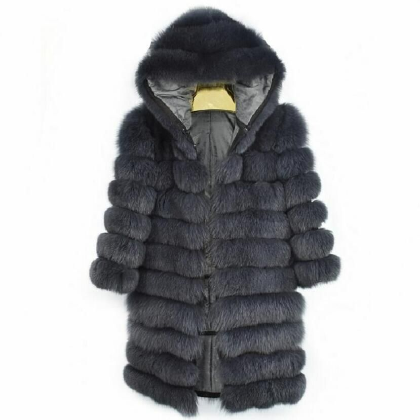 2018new real fox fur ladies leather fur coat ladies detachable variable vest cover thick winter warm fashion high street s