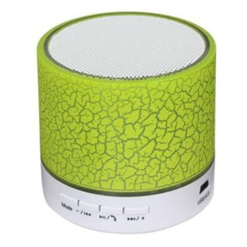 Wireless Bluetooth Mini Speaker Stereo for iPhone Samsung Phone Tablet PC LED Colour:Green