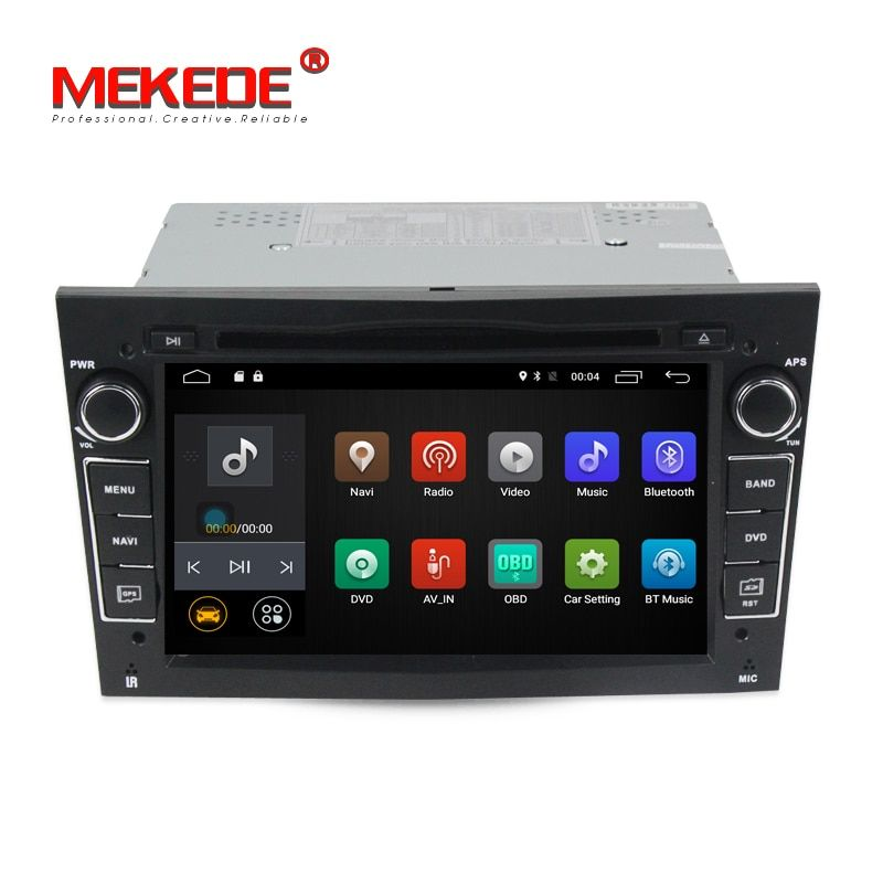 Wholesale price! Quad core android7.1 system car dvd gps player for Opel Astra Vectra Antara Zafira with 4g SIM wifi BT 2GB RAM