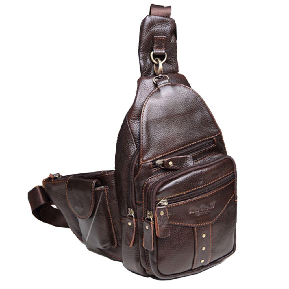 Sac à bandoulière en cuir de vachette véritable pour hommes, voyage, équitation, randonnée, clouté, bandoulière, sac à bandoulière, sac à bandoulière, nouveau
