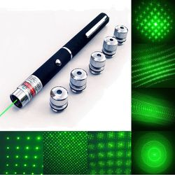 Starry 5mW 532nm Green Laser Pen Stars Laser Pointer With Clouds Sparkling Stars Lantern Time Tunnel Pattern Lazer No Battery