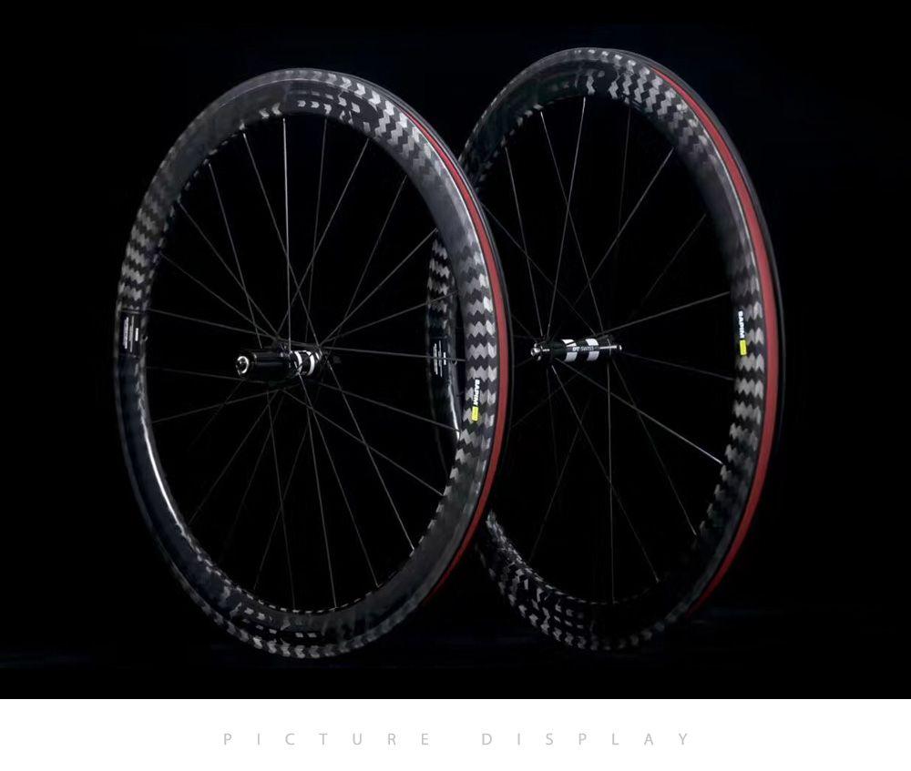 ! 12K Twill wheel carbono road bike wheels 25mm width 50mm depth Tubular Clincher carbon bicycle wheels Wheelset