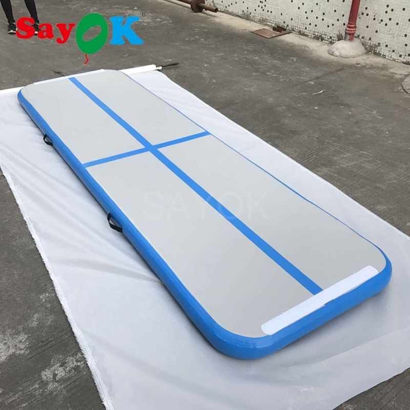 3m Cheap inflatable gymnastics mat with electric air pump, inflatable air track for sale