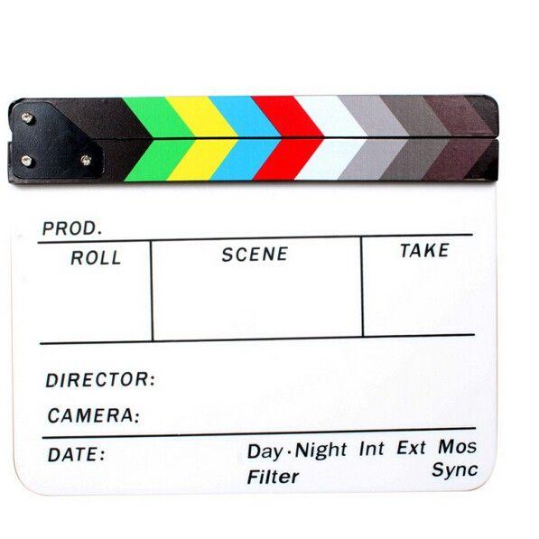 Универсальный акрил красочные Clapperboard ТВ Плёнки фильм Сланец Cut ролевая игра поддержать Голливуд