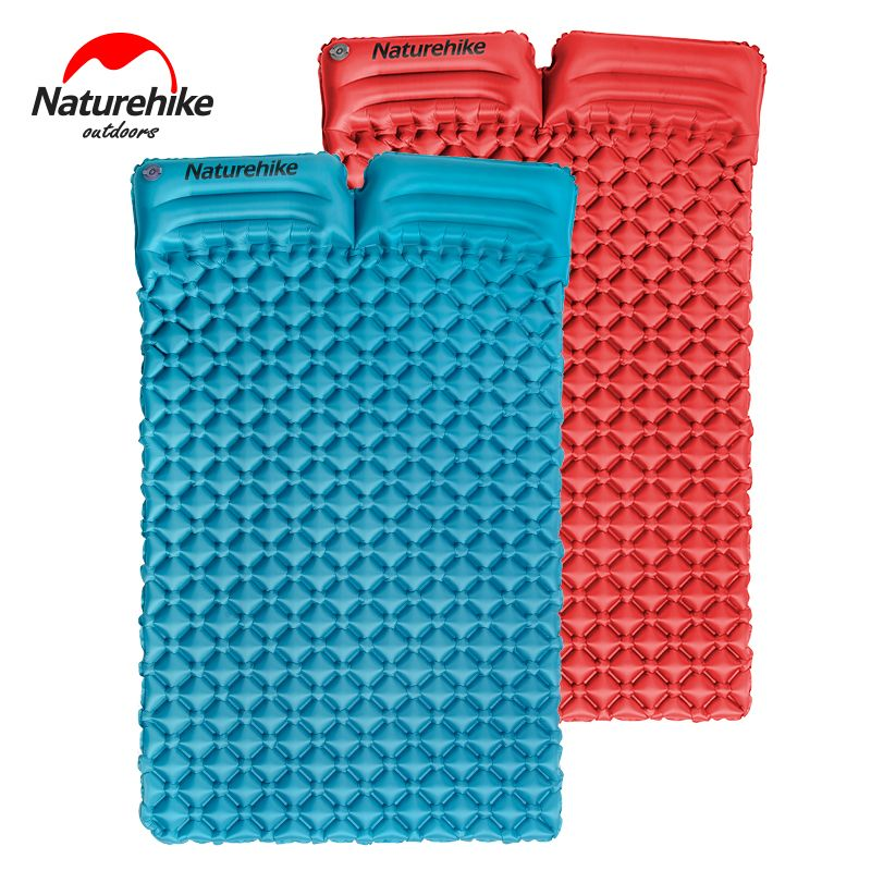 Naturehike outdoor camping mat double inflatable mattress sleeping pad hiking travel mat 2 person inflatable bed