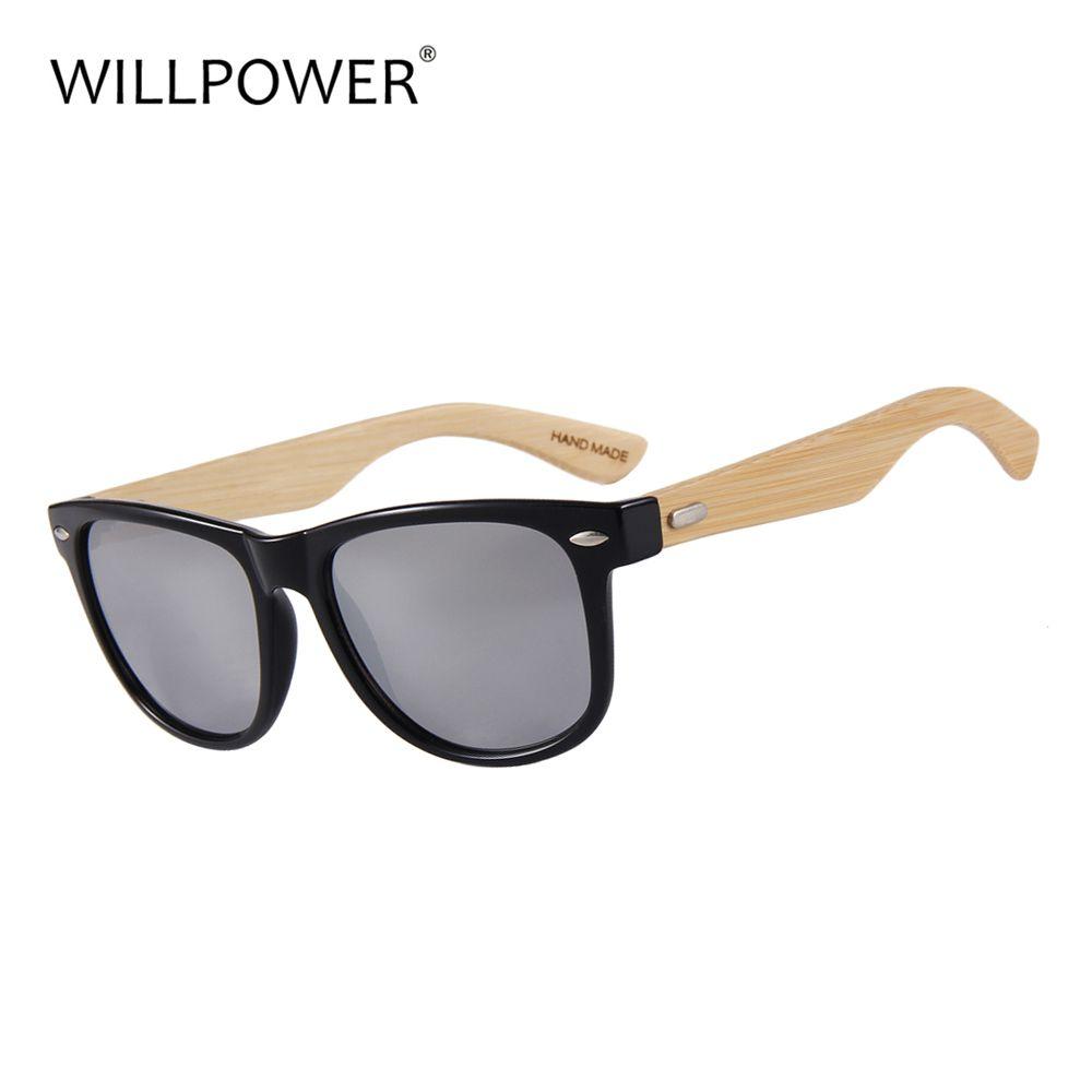 VOLONTÉ Bambou lunettes de Soleil Pour Hommes Et Femmes lunettes de Soleil En Bois UV400 Miroir Lentilles 2018 Chaude