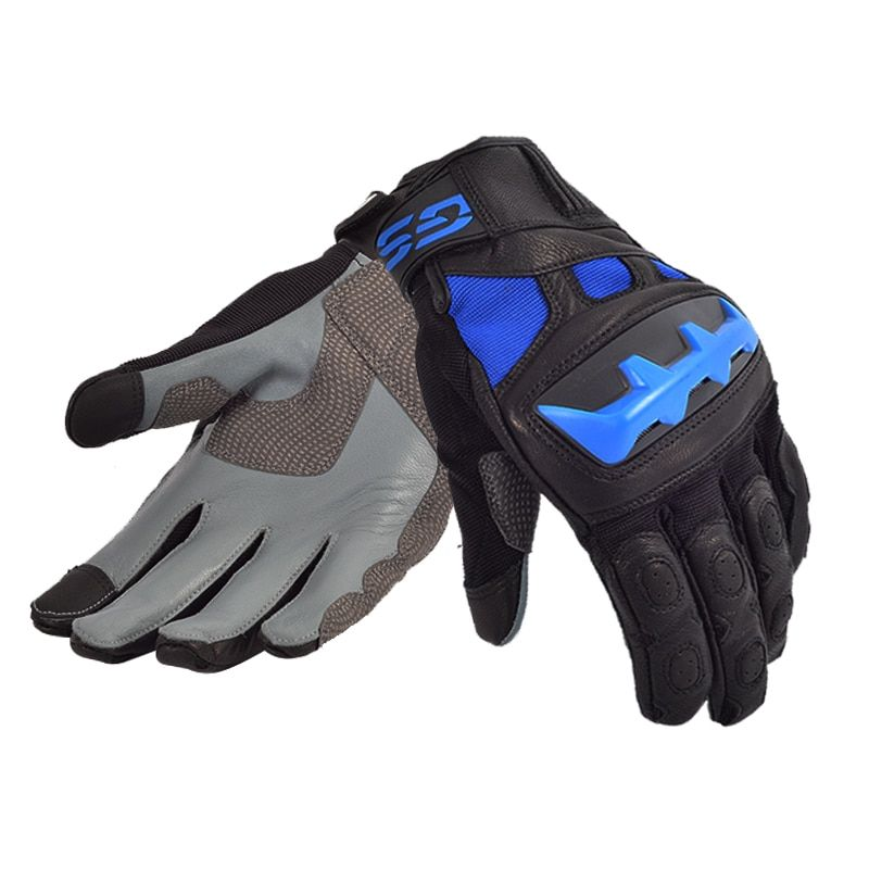 2018 Street Motorcycle Motorcross GS Gloves for BMW Motorrad Black/Red Blue Leather Racing Gloves