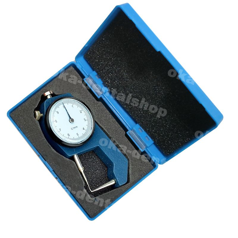 Épaisseur dentaire jauges précision 0 à 10*0.1mm étrier dentaire avec montre métal Portable mini testeur d'outil de mesure d'épaisseur