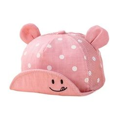 Kids Newborn Toddler Baby Summer Breathable Caps Girl Boy Snapback Cap Dots Little Ear Hats New