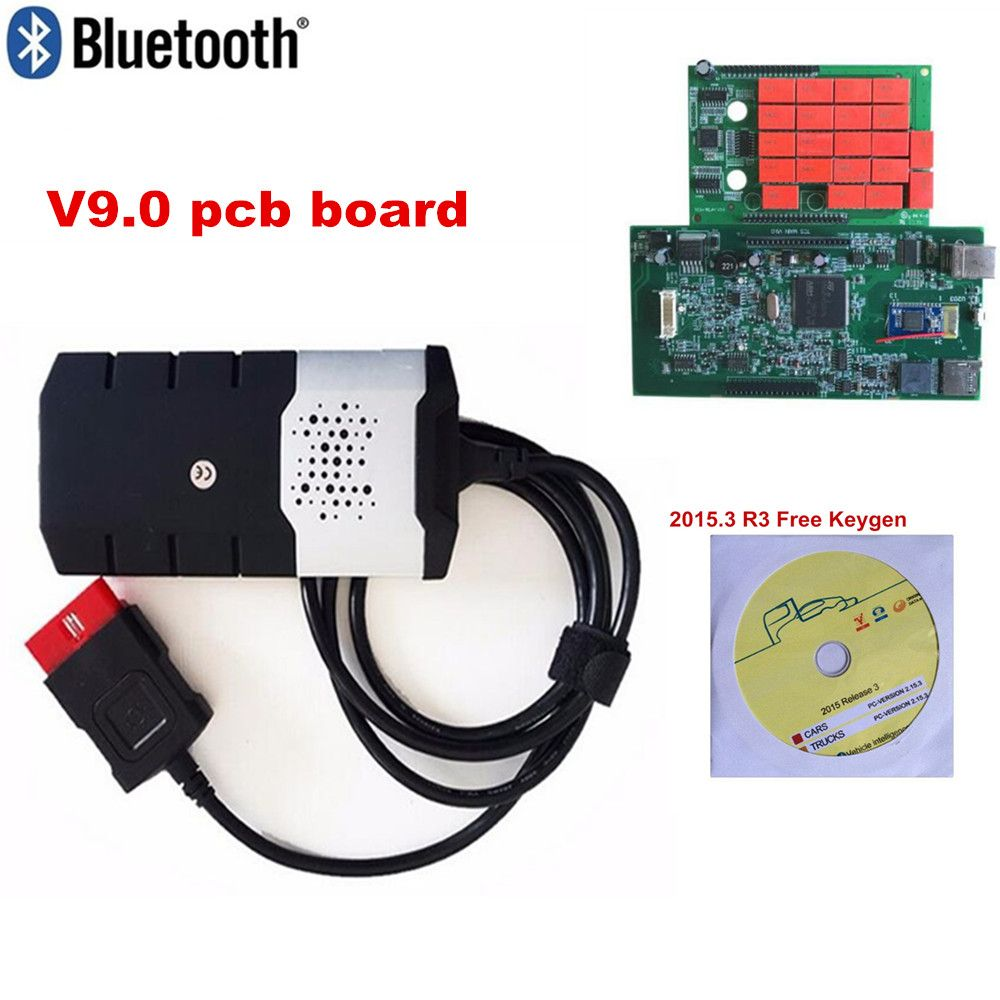 2018 obd obd2 scanner with best relays 2015R3 keygen for new vci tcs cdp pro for delphis ds150e bluetooth diagnostic tools