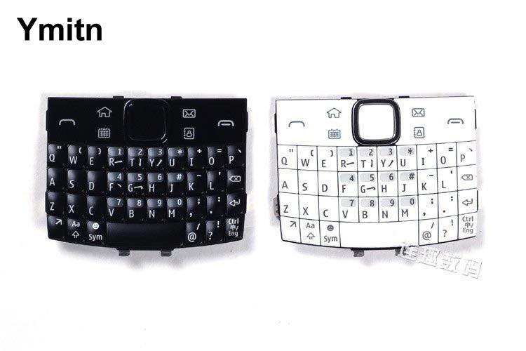 Black/White 100% New Ymitn Housing Cover Keypads Keyboards English & Russian & Arabic For Nokia e6 e600 e6-00
