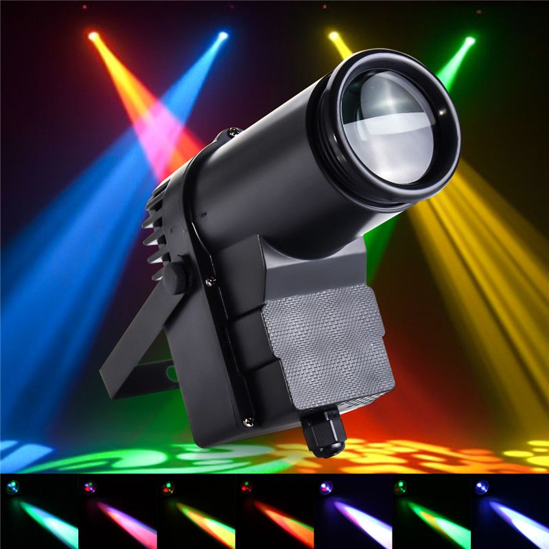 Smuxi 10W DMX LED Stage Light RGBW Pinspot Light Beam Spotlight 6CH for DISCO KTV DJ Show Decor Stage Lighting Effect AC110-240V
