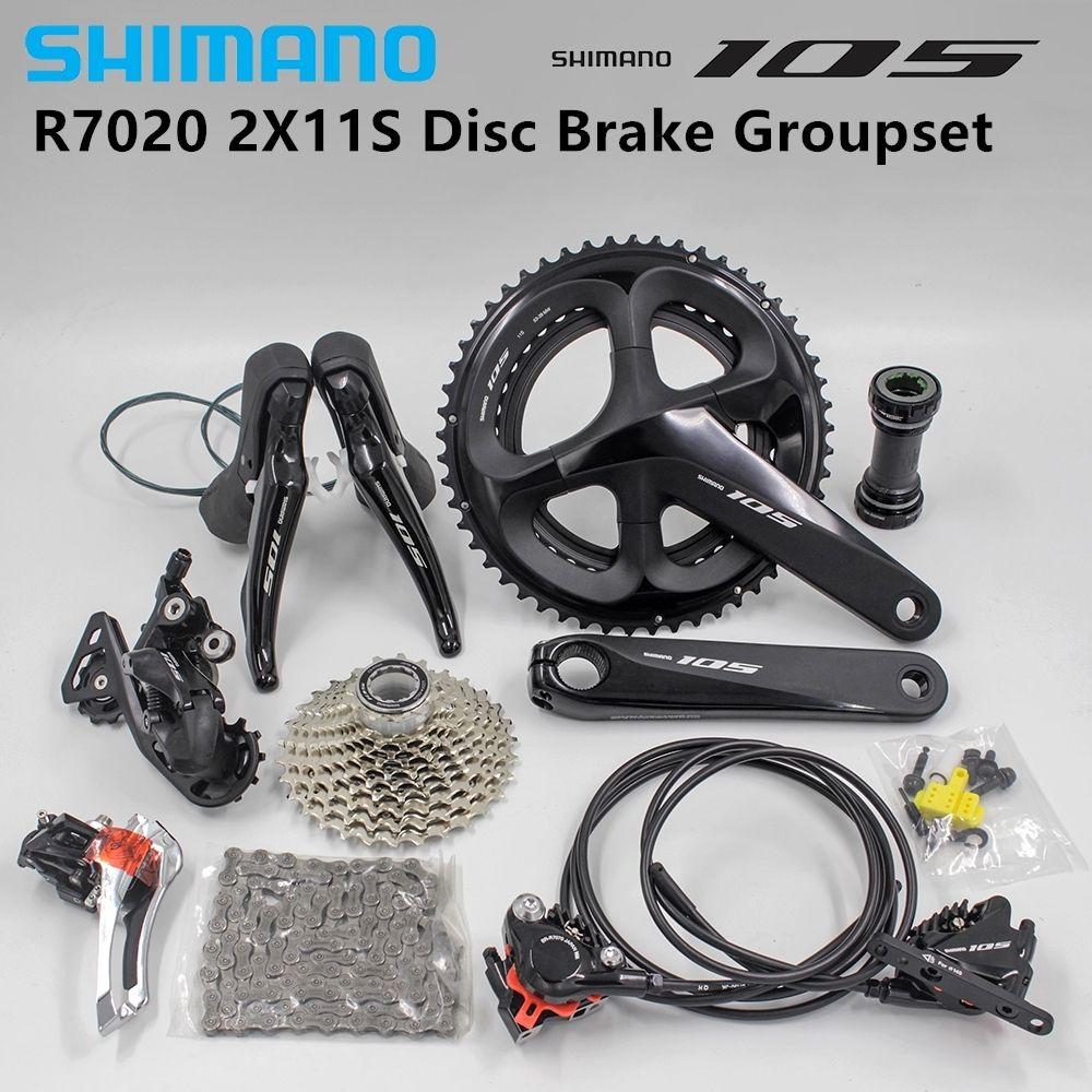 Shimano 105 R7020 Groupset 2x11-speed-Hydraulische Scheiben Bremsen-Flache Montieren 170/172. 5/175MMX11-28/30/32/34 T