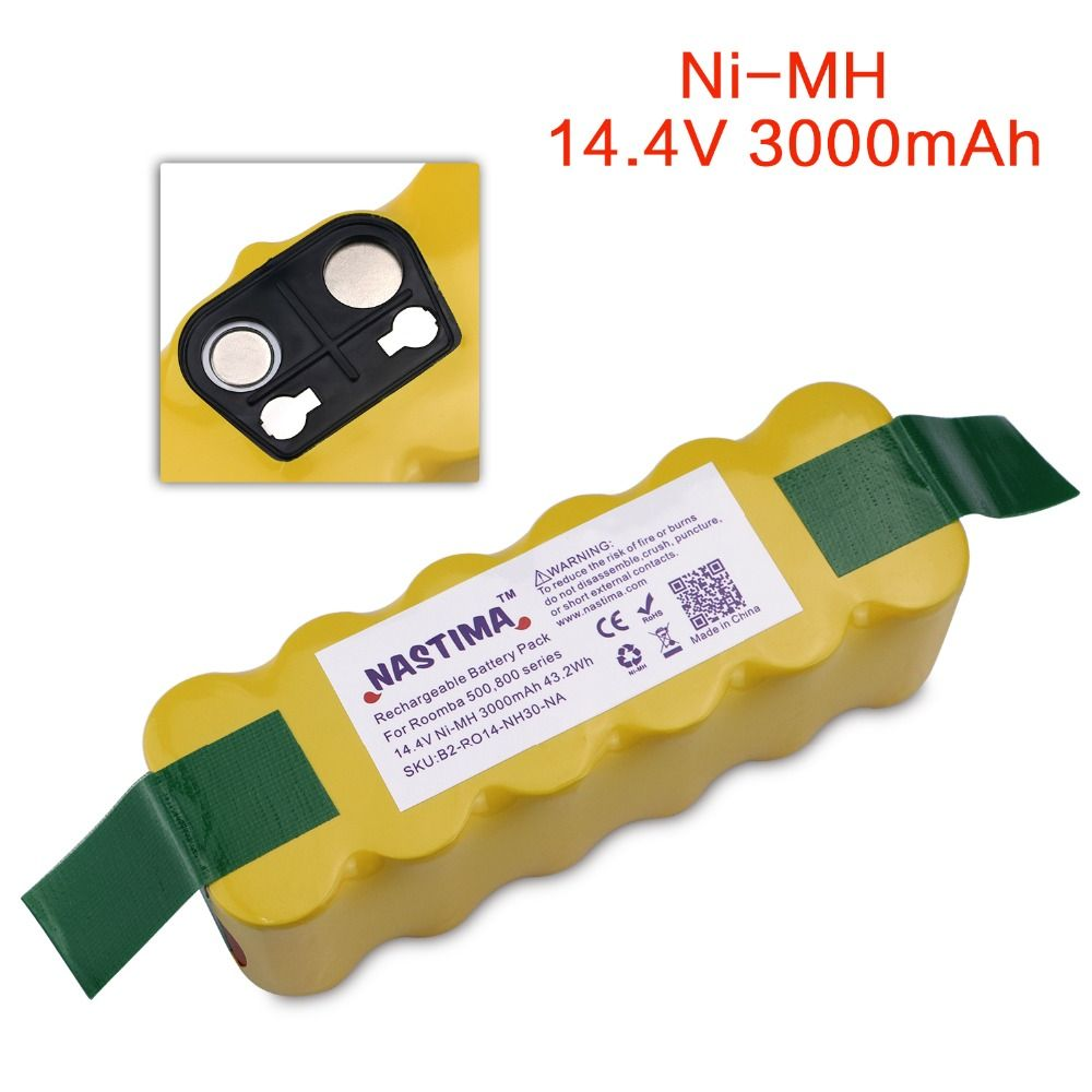 NASTIMA Replacement 3000mAh Battery XLife Extended-Compatible with iRobot Roomba 500 600 700 800 Series Vacuum Cleaner iRobots