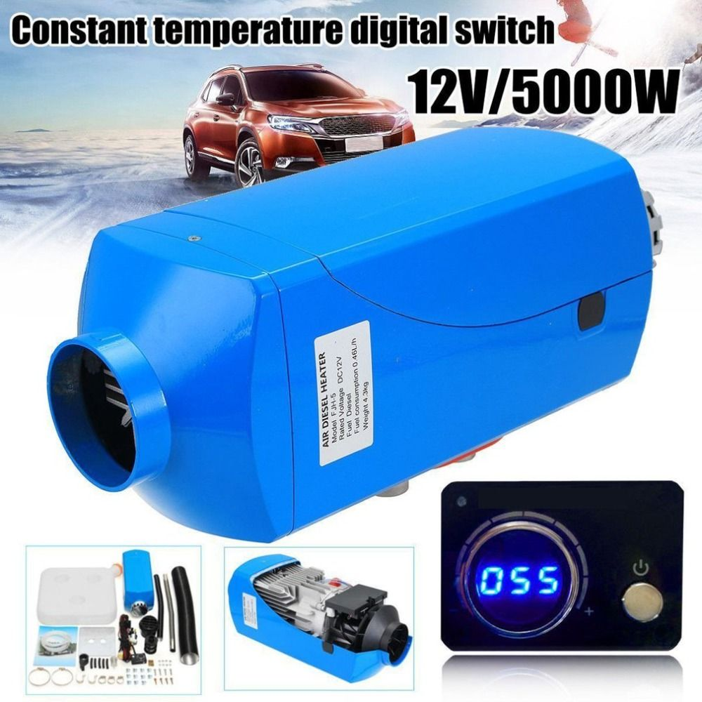 12V 5000W LCD Schalter Vehicle Air Diesel Heater For Cars Trucks Yachts Boats Motor-Homes Air Parking Heater