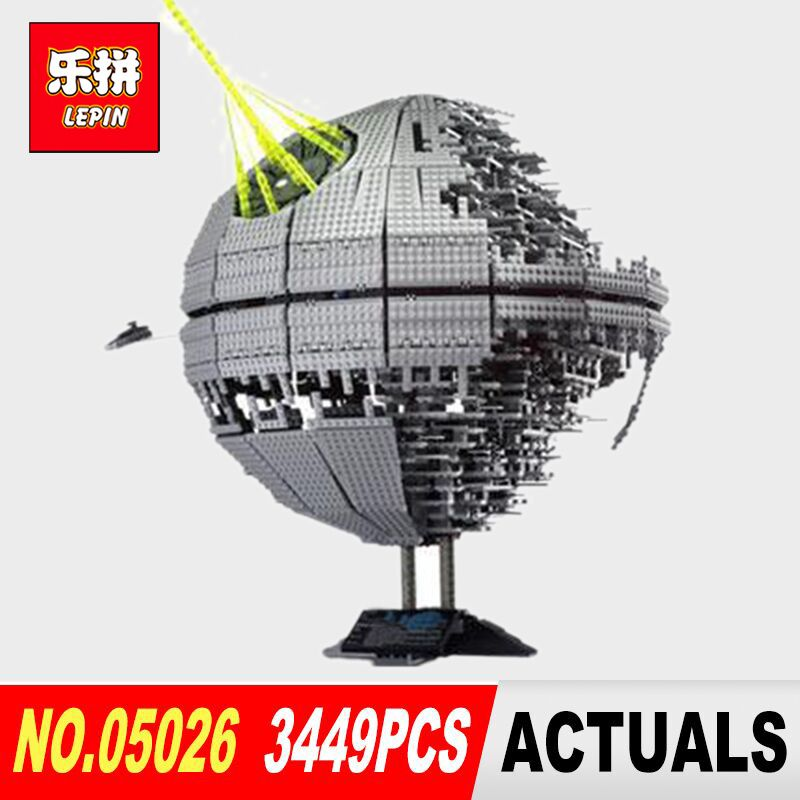 LEPIN 05026 Star classic Wars Death Star The second generation 3449Pcs Building Block Bricks Toys Model Compatible legoed 10143