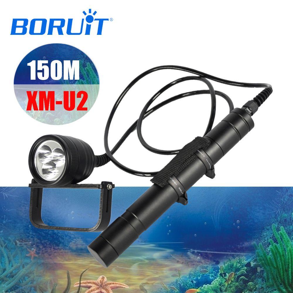 BORUIT LED Xml-U2 Professionelle Scuba Taschenlampe Tauchen Taschenlampe div10 Unterwasser Lampe Licht Laterne Tauchen Ausrüstung Zubehör