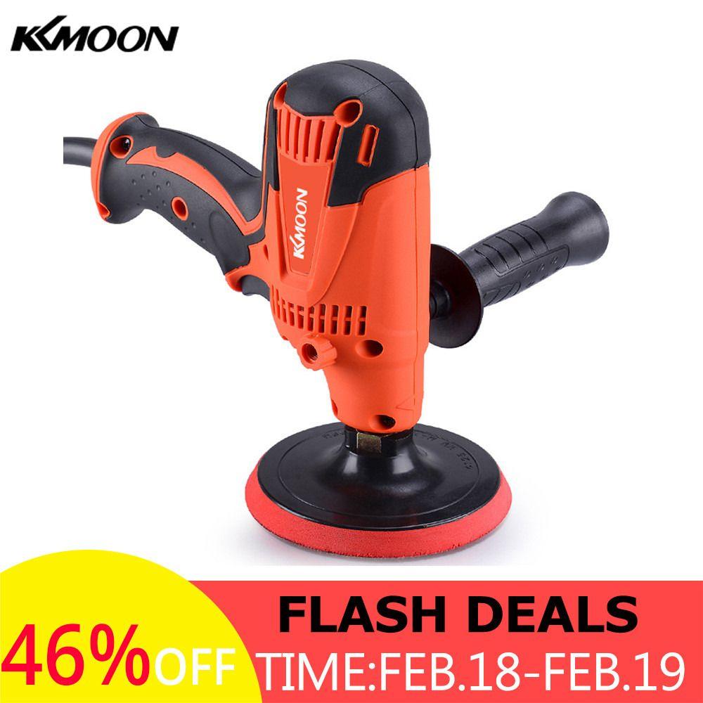 KKmoon 800W Electric Polishing Machine Adjustable Speed Car Polisher Sanding Waxing Grinding Machine Automobile Furniture Tool