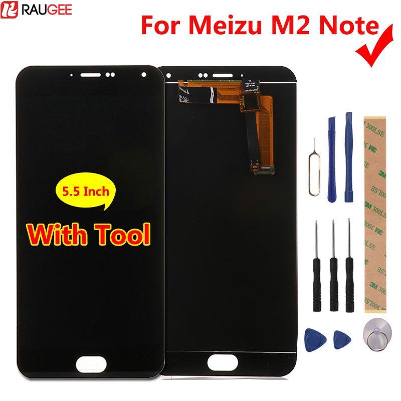 Meizu M2 Note LCD Display + Écran Tactile Digitizer Panneau de Verre Pour Meizu M2 Note 1920x1080 FHD 5.5 ''cellulaire Téléphone
