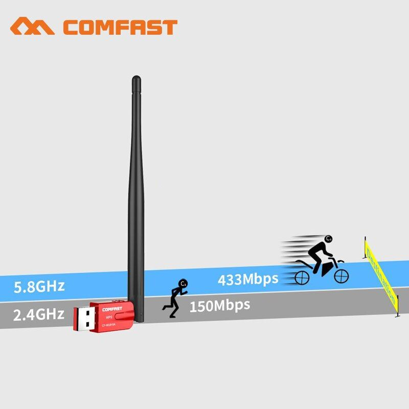AC600 600Mbps WPS free driver USB WiFi Adapter 5G WiFi Antenna PC Computer Network Card 802.11ac bluetooth wi fi Receiver dongle