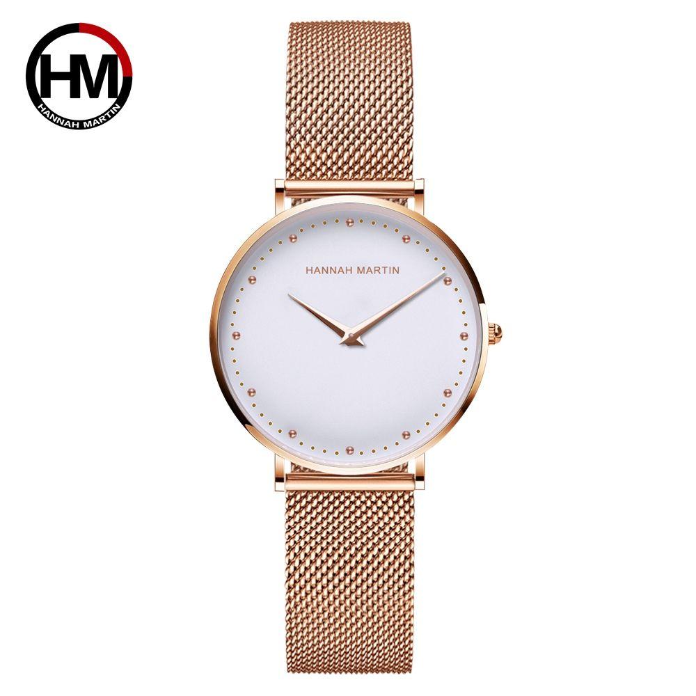 Women Watches Top Brand Luxury Fashion Japan Quartz Movement Stainless Steel Rose Gold Waterproof Wrist watches relogio feminino